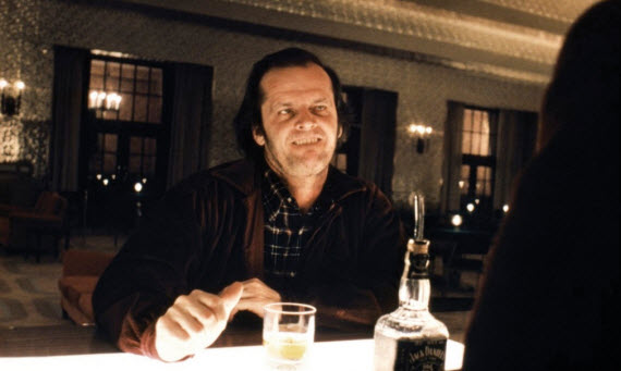 An image of Jack Nicholson starring in The Shinning