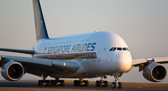 An image of a Singapore Airlines A380 plane