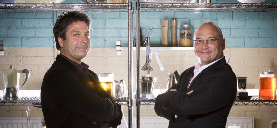 An image of John Torode and Gregg Wallace from the UK versions of Masterchef
