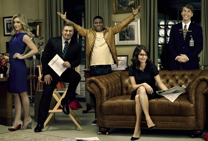 An image of the 30 Rock cast