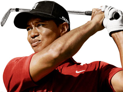 An Image of the contreversial but the Greatest golf player Tiger Woods