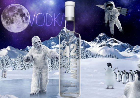 An image of the award winning vodka from New Zealand, 42 Below