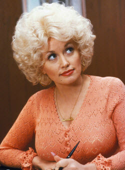 An image of Dolly Parton and her famous boobs