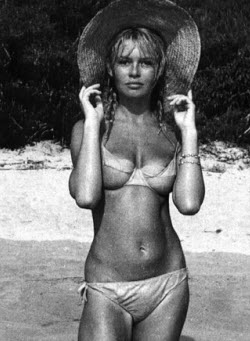 An image of Brigitte Bardot's ample boobs