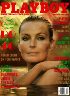 An image of Bo Derek on the front cover of Playboy