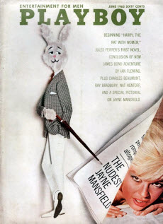An image of Jayne Mansfiled's playboy cover
