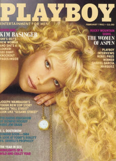 An image of Kim Basinger on the cover of Playboy