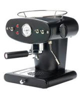 An image of the Luca Trazzi 201114 X1 Ground Espresso Machine, Black