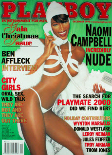 An image of Naomi Campbell on the cover of Playboy
