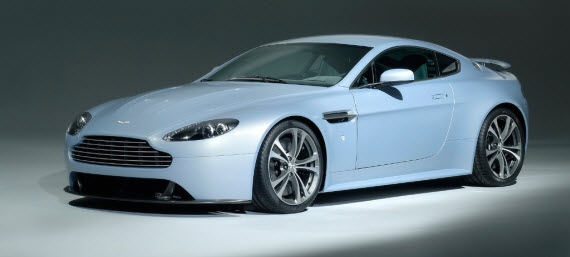 An image of the Aston Martin Vantage in powder blue