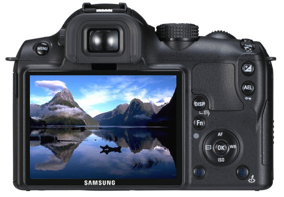 An image of a Digital SLR camera that has taken a photo of the Milford Sounds