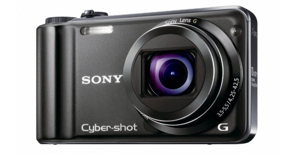 An Image of the Sony Cyber-shot DSC-HX5V 10.2MP CMOS  10x Wide Angle Zoom Digital Camera with Optical Steady Shot Image Stabilization and 3.0 inch LCD