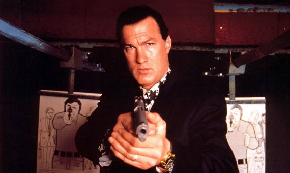 An image of Steven Seagal from the movie Marked For Death