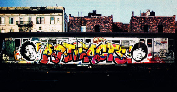Example of East Coast inspired Hip Hop graffiti