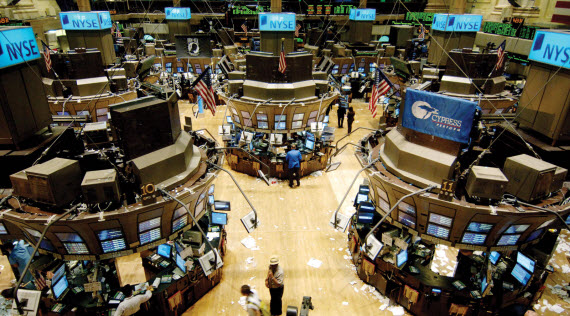 An Image of the New York Stock Exchange trading floor