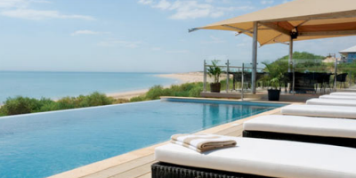 An image of the Eco Beach resort in Western Australia