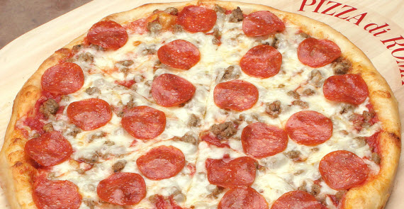 An image of the world famous meat lovers pizza