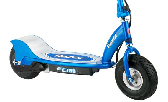 An image of the electric scooter the Razor 300