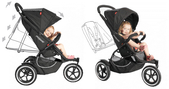 An image of the versatile Phil and Teds baby stroller.