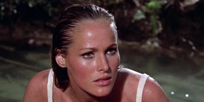 An image of the bond girl character Honey Ryder in Dr No
