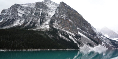 An image of lake Louise in October