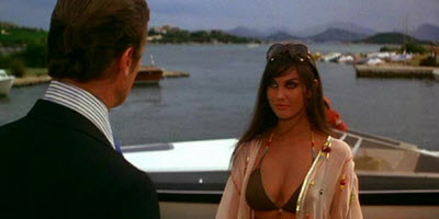 An image of the bond girl character Naomi from The Spy Who Loved Me