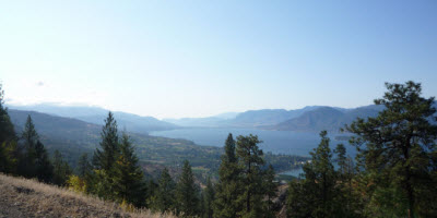 An image of the Osoyoos from the Kettle Valley Railway ride