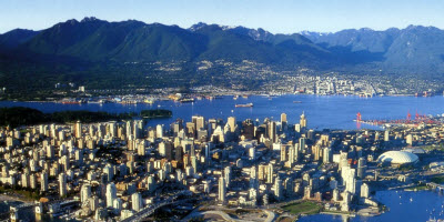 An image of Vancouver city in the summer.