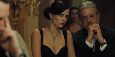 An image the the bond girl charatcer Vesper Lynd in Casino Royale