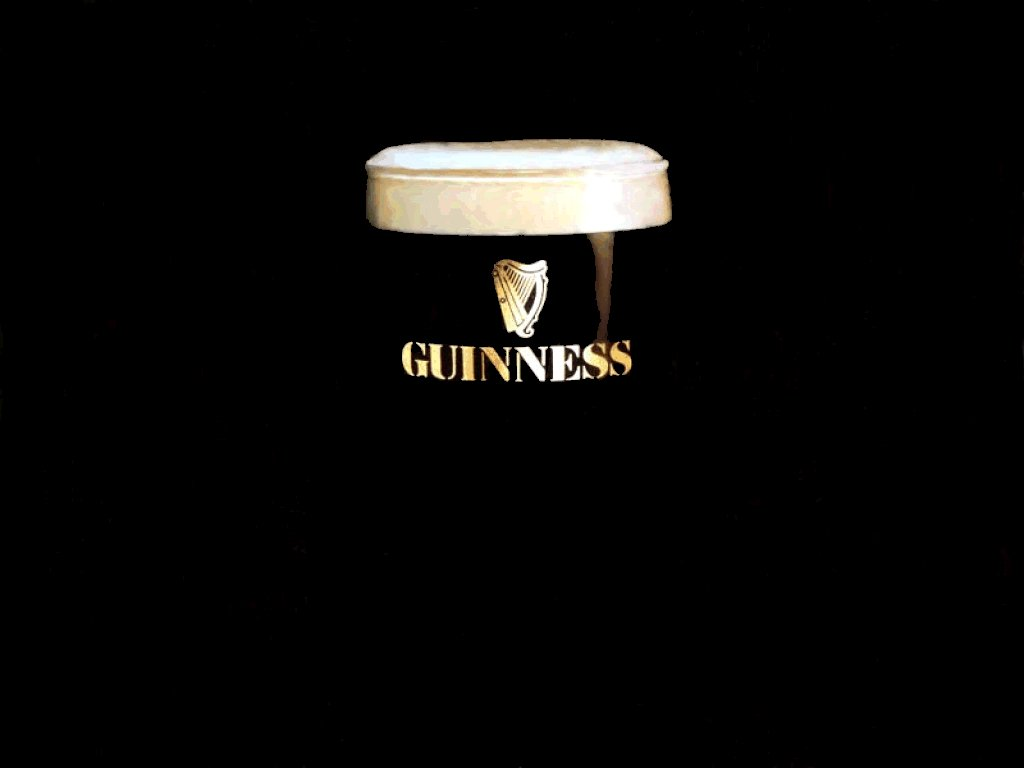An image of Guinness on a black background