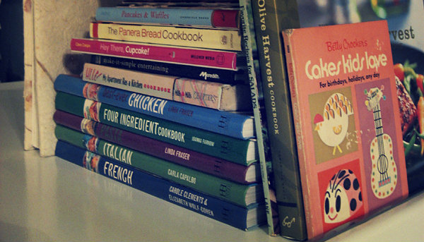 An image of a range of cookbooks